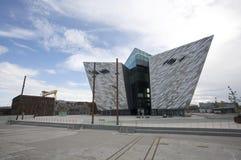 Titanic Belfast. Exterior of Titanic Center, Belfast, Northern Ireland stock photos