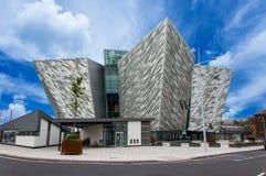 Titanic Belfast. Exterior of Titanic Center, Belfast, Northern Ireland stock images