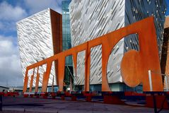 Titanic Belfast royalty free stock photo