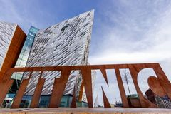 Titanic Belfast visitor museum royalty free stock image