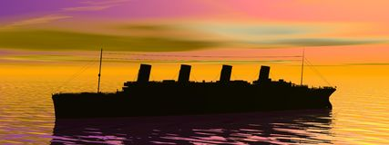 Titanic boat Royalty Free Stock Photo