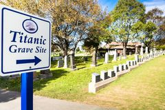 Titanic Cemetery. Place in the city of Halifax in Canada where t stock images
