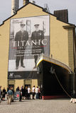 Titanic exhibition. Norrkoping. Sweden stock images