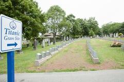 Titanic Graves - Halifax - Nova Scotia royalty free stock image