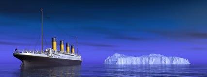 Titanic and iceberg Stock Photography