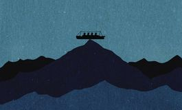 Titanic illustration Stock Image