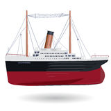Titanic mini – legendary colossal mini boat. Titanic mini – legendary colossal mini boat – monumental mini ship – symbol icon flatten isolated Stock Photo