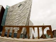 Titanic Museum in Belfast Ireland royalty free stock photo