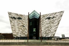 Titanic museum in Belfast North Ireland  in may 2016 Stock Photo