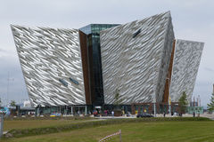 Titanic Museum, Belfast, Northern Ireland. Titanic museum in Belfast, Northern ireland. The museum was constructed on derelict land in the dock area on Queens Royalty Free Stock Photos
