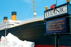 Titanic Museum in Branson Missouri. The Titanic Museum located in the Ozark Travel destination of Branson, MO is the world's largest museum attraction. The royalty free stock image