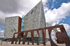 Titanic Museum and cloudy sky, Belfast Royalty Free Stock Images
