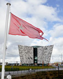 Titanic Museum Palace and the flag of the White Star Stock Photo