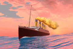Titanic Passenger Liner Stock Photos