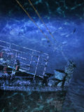 Titanic. Prow of the Titanic under water Royalty Free Stock Image