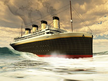Titanic Ship. The great unsinkable ship of history before its tragic sinking on its maiden voyage Royalty Free Stock Photography