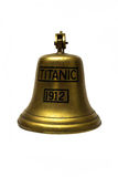 Titanic ship  bell on white background Royalty Free Stock Image