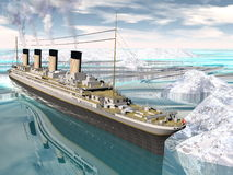 Titanic ship - 3D render Royalty Free Stock Photography