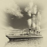Titanic ship - 3D render Royalty Free Stock Images