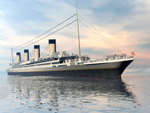 Titanic ship - 3D render Royalty Free Stock Image