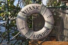 Titanic ship life buoy Royalty Free Stock Photography