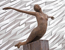 Titanic Statue royalty free stock photo