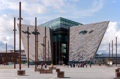 Titanic visitor center in Belfast stock photo