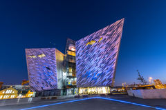 Titanic visitor centre in Titanic Quarter, Belfast. Royalty Free Stock Images