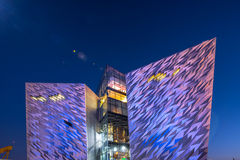Titanic visitor centre in Titanic Quarter, Belfast. Royalty Free Stock Photo
