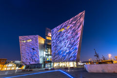 Titanic visitor centre in Titanic Quarter, Belfast. Stock Images