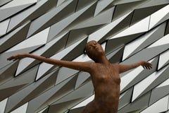 Titanicastandbeeld, Kolossaal Museum, Belfast, Noord-Ierland Royalty-vrije Stock Afbeelding