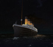 Titanics RMS i går kväll Royaltyfri Bild