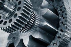 Titanio, acero, industria y maquinaria imagen de archivo