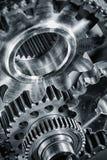Titanio ed ingranaggi aerospaziali d'acciaio Fotografia Stock Libera da Diritti