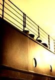 Titanische Geländer u. Seilführung - Sepia-Version Stockfotografie