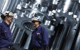 Titanium части авиакосмического машиностроения Стоковые Изображения