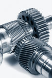 Titanium aerospace gears wheels Royalty Free Stock Photos