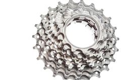Titanium bicycle cassette Stock Photography