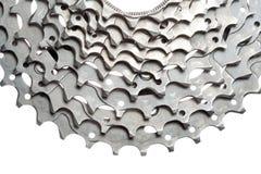 Titanium bicycle cassette Stock Images