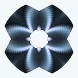 Titanium blue button. Abstract fractal image resembling a titanium blue button Stock Images