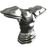 Titanium Breastplate. Illustration from online game In Nomine Credimus Stock Photos