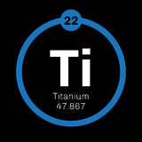 Titanium chemical element Royalty Free Stock Photo
