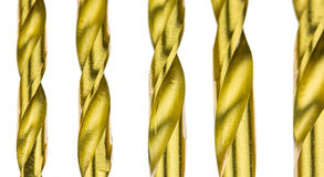 Titanium Coated Drill Bit Set II Royalty Free Stock Image