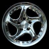 Titanium crhome car rim texture isolated Royalty Free Stock Photo