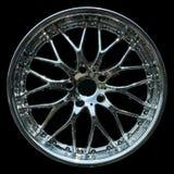 Titanium crhome car rim texture isolated Stock Photo