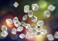 Titanium dwutlenku TiO2 nanoparticles Fotografia Royalty Free