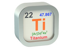 Titanium. Element symbol 3d on white background Royalty Free Stock Images