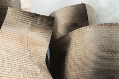 The titanium facade of Guggenheim Bilbao Stock Image