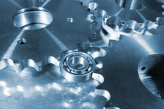 Titanium gears and bearings Stock Images