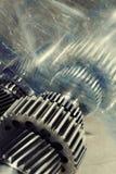 Titanium gears and cogs arrangement Stock Image